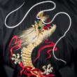 Kimono krátke s vyšívaným drakom