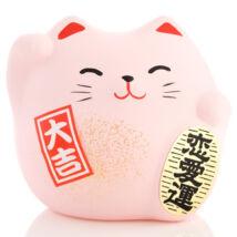 Rózsaszín feng shui manekineko S