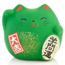 Zöld színű feng shui manekineko S