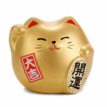 Arany színű feng shui manekineko S