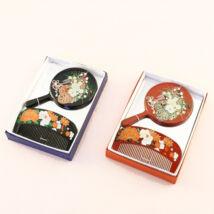 Japonský set zrkadlo s hrebeňom