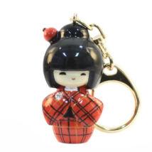 Kokeshi kulcstartó Kasuri