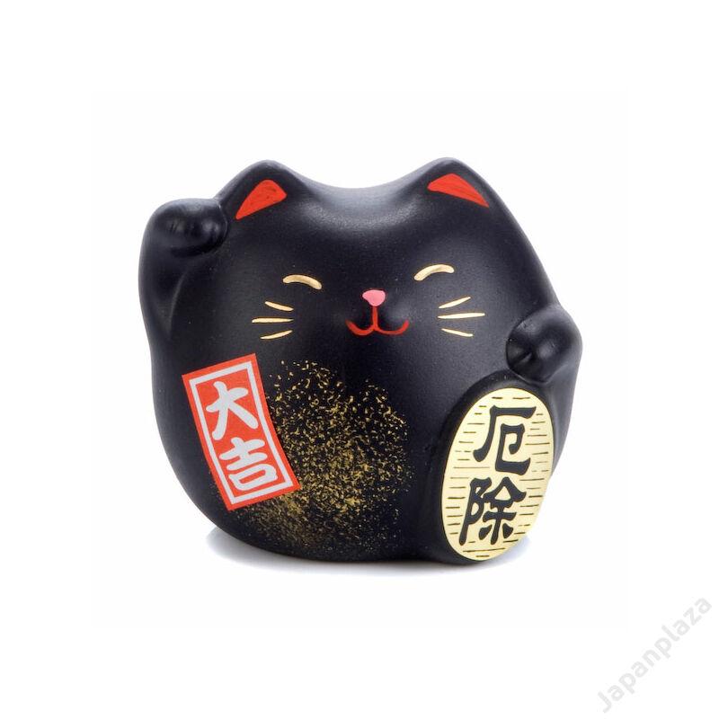 Fekete feng shui manekineko S
