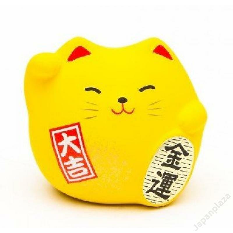 Sárga színű feng shui manekineko S