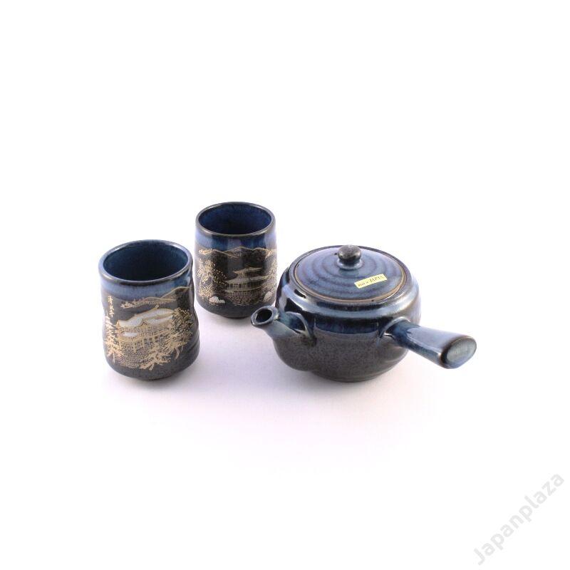 Kuronagashi čajová súprava pre dvoch