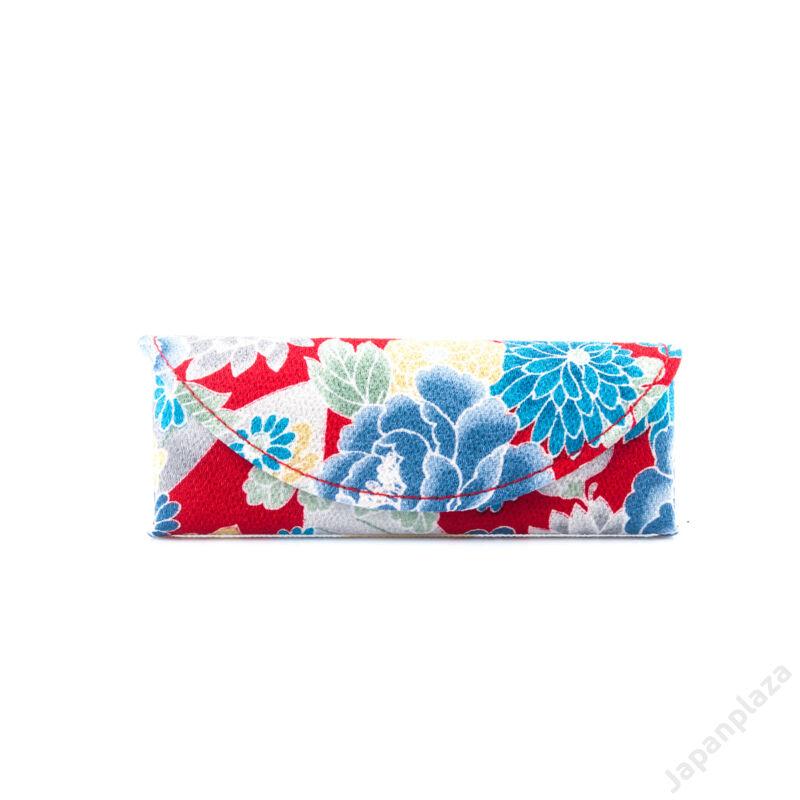Púzdro na okuliare Red Blue Flower