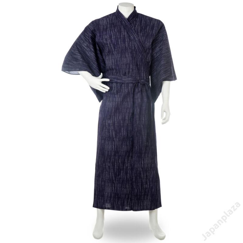 Kasuri hosszú sötétkék kimonó