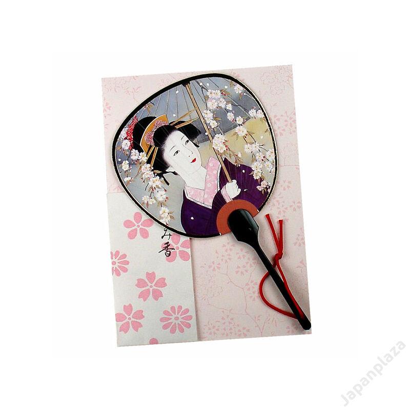 Képeslap - Gésa lila ruhában